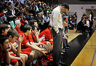 Holy Redeemer Coach reacts to what will be a season ending loss in the 4th quarter of District play.