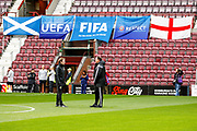 Scot Gemmil & Malky Mackay discuss the game ahead of the U21 UEFA EUROPEAN CHAMPIONSHIPS match Scotland vs England at Tynecastle Stadium, Edinburgh, Scotland, Tuesday 16 October 2018.