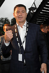 02.07.2011, Imtech Arena, Hamburg, GER, WM Fight IBF, IBO and WBO world champion Wladimir Klitschko vs WBA champion David Haye, im Bild ehemaliger Boxer Luan Krasniqi // during the WM fight between Wladimir Klitschko and David Haye, in the Imtech Arena, Hamburg, 2011/07/02. .EXPA Pictures © 2011, PhotoCredit: EXPA/ nph/  Witke       ****** out of GER / CRO  / BEL ******