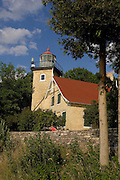 Eagle Bluff Lighthouse in Peninsula State Park in Door County, Wisconsin.  (Mike Roemer Photo)