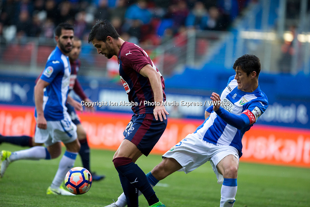 Match day of La Liga Santander 2016 - 2017 season between S.D Eibar - C.D Leganes, played Ipurua Stadium on Sunday, April 30th, 2017. Eibar, Spain. 24 Adrian. Photo: ION ALCOBA | PHOTO MEDIA EXPRESS