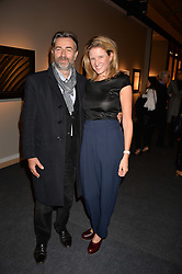 Fiona Scarry and guest at the 2017 PAD Collector's Preview, Berkeley Square, London, England. 02 October 2017.