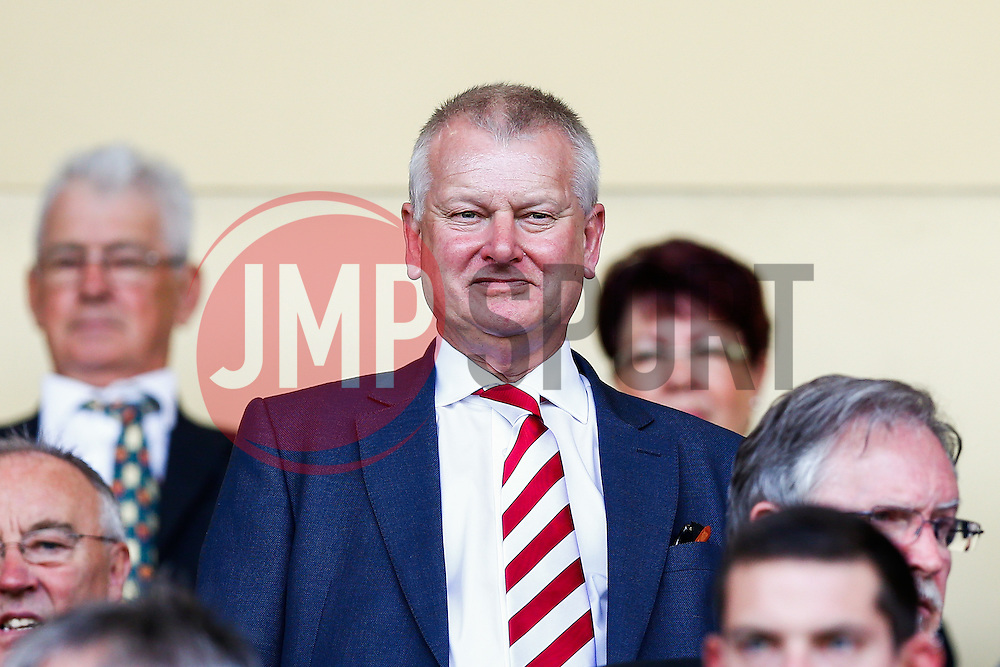 Bristol City owner Steve Lansdown looks on from his seat in the stands - Photo mandatory by-line: Rogan Thomson/JMP - 07966 386802 - 31/04/2014 - SPORT - FOOTBALL - Meadow Lane, Nottingham - Notts County v Bristol City - Sky Bet League 1.