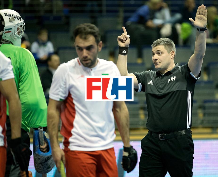 BERLIN - Indoor Hockey World Cup<br /> Men: Iran - Switzerland<br /> foto: HRACHOU Aliaksandr.<br /> COPYRIGHT WILLEM VERNES