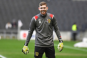 Milton Keynes Dons goalkeeper (on loan from Blackburn Rovers) Andrew Fisher (13) during the EFL Sky Bet League 1 match between Milton Keynes Dons and Wycombe Wanderers at stadium:mk, Milton Keynes, England on 1 February 2020.