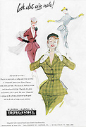 Moygashel fabrics fashion advert advertising in Country Life magazine UK 1951