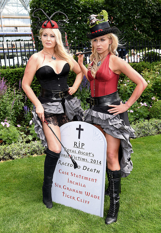 Victoria Eisermann and Pola Pospieszalska attend Royal Ascot Ladies Day at Ascot Racecourse, Ascot, Berkshire on Thursday 18 June 2015