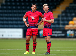 Jackson Willison of Worcester Warriors and Sam Oliver of Worcester Warriors - Mandatory by-line: Robbie Stephenson/JMP - 24/08/2017 - RUGBY - Sixways Stadium - Worcester, England - Worcester Warriors v Munster Rugby - Preseason Friendly