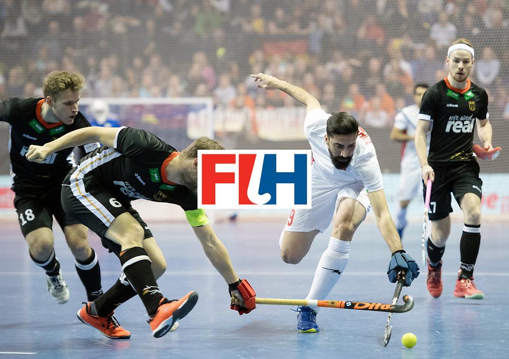 BERLIN - Indoor Hockey World Cup<br /> SF1 Germany - Iran<br /> foto: Martin H&auml;ner Navid Taherirad <br /> WORLDSPORTPICS COPYRIGHT FRANK UIJLENBROEK