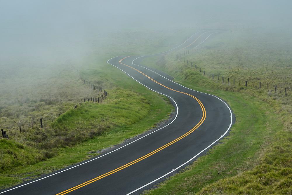 Saddle Road near Waikii, Big Island of Hawaii.