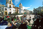 SPAIN, ANDALUSIA, RONDA 'pueblo blanco' Plaza Mayor