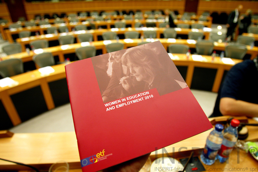 BRUSSELS -BELGIUM - 11 JULY 2006 -- ETF presentation of a new book, Women in Education nd Employment 2010, in The European Parliament. PHOTO: ERIK LUNTANG /