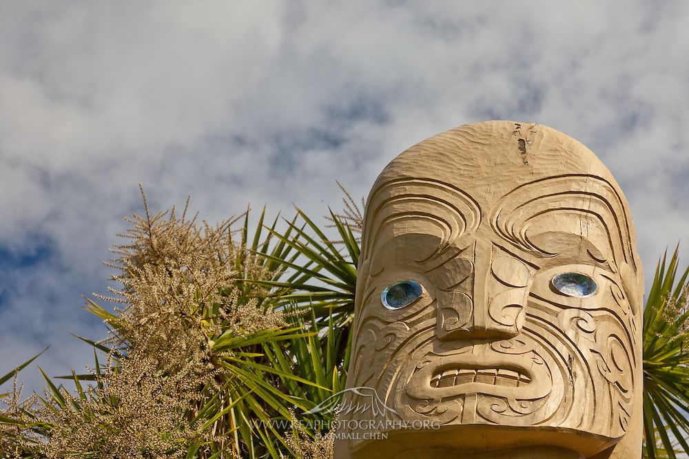 Maori statue, New Zealand