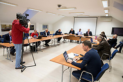 Meeting of Executive Committee of Ski Association of Slovenia (SZS), on March 15, 2017 in SZS, Ljubljana, Slovenia. Photo by Vid Ponikvar / Sportida