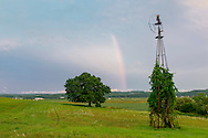 Goshen, New York -Farm scenes after a summer thunderstorm on July 25, 2016.