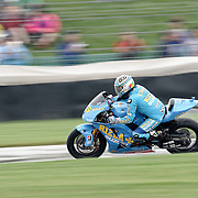 August 8, 2009, Loris Capirossi practices during Free Practice 1 at the Red Bull Indianapolis Grand Prix.