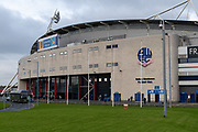 A view from outisde the University of Bolton stadium before the EFL Sky Bet League 1 match between Bolton Wanderers and Milton Keynes Dons at the University of  Bolton Stadium, Bolton, England on 16 November 2019.