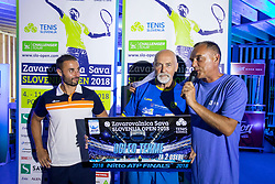 Offical  at ATP Challenger Zavarovalnica Sava Slovenia Open 2018, on August 4, 2018 in Sports centre, Portoroz/Portorose, Slovenia. Photo by Urban Urbanc / Sportida