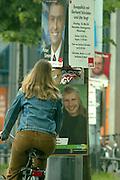 Mannheim. Wahlkampf zur Gemeinderatswahl 2004. SPD Wahlplakate.<br /> <br /> Bild: Markus Proßwitz