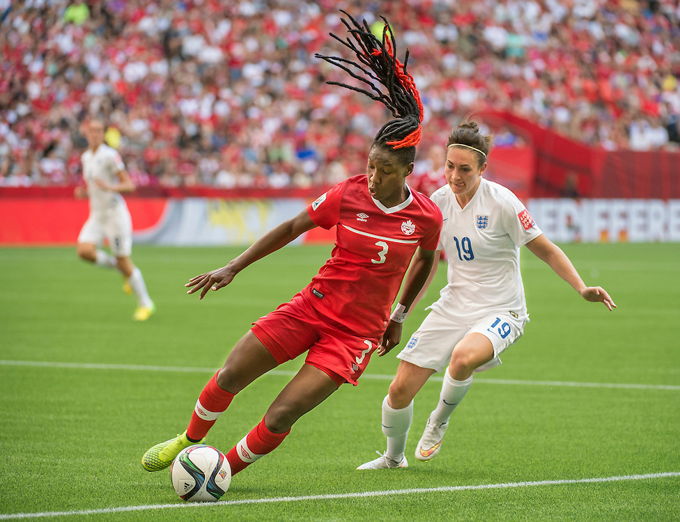 during 2015 women's World Cup Soccer in Vancouver during second round action between England and Canada.