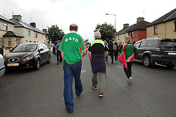 On the Move  Mayo supporters will be back again toMcHale Park for the next round of the qualifers against Kildare.<br /> Pic Conor McKeown