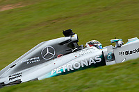 HAMILTON LEWIS (GBR) - MERCEDES GP MGP W05 - ACTION during the 2014 Formula One World Championship, Brazil Grand Prix from November 6th to 9th 2014 in Sao Paulo, Brazil. Photo Eric Vargiolu / DPPI.