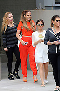 Sept. 8, 2014 - New York City, NY, United States - <br /> <br /> Jennifer Lopez wearing jump suit<br /> <br /> Singer Jennifer Lopez leaves her downtown apartment in a bright red jumpsuit <br /> ©Exclusivepix