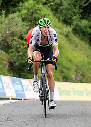 12.07.2019, Kitzbühel, AUT, Ö-Tour, Österreich Radrundfahrt, 6. Etappe, von Kitzbühel nach Kitzbüheler Horn (116,7 km), im Bild Stefan de Bod (RSA, Team Dimension Data) // Stefan de Bod of the Republic the South Africa (Team Dimension Data) during 6th stage from Kitzbühel to Kitzbüheler Horn (116,7 km) of the 2019 Tour of Austria. Kitzbühel, Austria on 2019/07/12. EXPA Pictures © 2019, PhotoCredit: EXPA/ Reinhard Eisenbauer