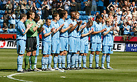 Photo: Steve Bond.<br />Coventry City v West Bromwich Albion. Coca Cola Championship. 28/04/2007. Coventry City observe a minute applause for Alan Ball