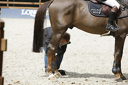 Al Kaheel Weldon d'05 and Groom<br /> CHIO Rotterdam 2008<br /> Photo © Hippo Foto