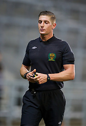 ST. HELENS, ENGLAND - Wednesday, January 15, 2014: Cheshire County FA referee xxxx during the FA Youth Cup 4th Round match at Langtree Park. (Pic by David Rawcliffe/Propaganda)