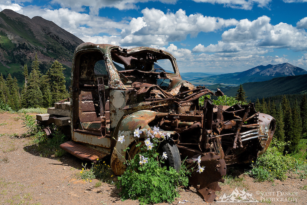 An abandoned truck at an old mine high above Crested Butte, Colorado.
