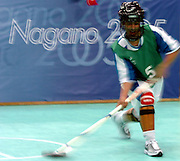 "n/z.: Hokej halowy Azerbejdzan - Jemen - Olimpiady Specjalne Igrzyska Zimowe podczas zawodow w hali "" White Ring "" w Nagano. Japonia , Nagano , 27-02-2005 , fot.: Adam Nurkiewicz / mediasport..Azerbeijan v Yemen Special Olympics Winter Games during floor hockey competition at "" White Ring "" in Nagano. February 27, 2005 , Japan , Nagano ( Photo by Adam Nurkiewicz / mediasport )"