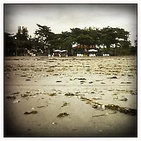 Rubbish on Kuta Beach, Bali, Indonesia.