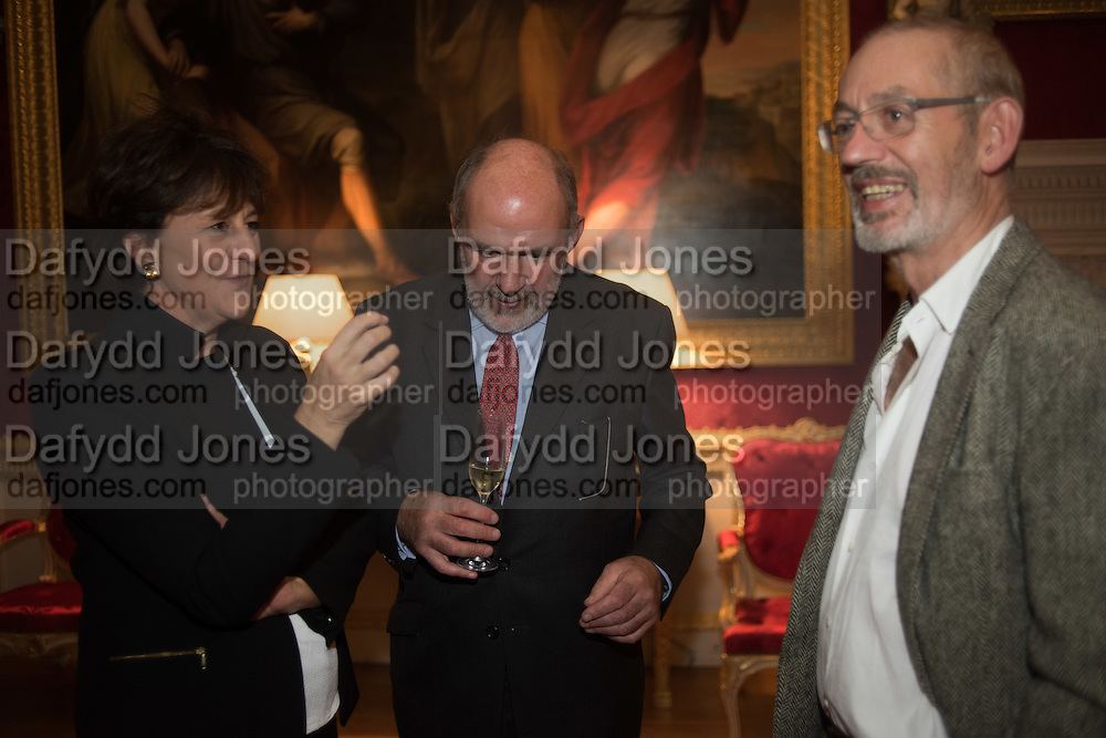 JULIE LYNN-EVANS; DAN TINDALL; NICHOLAS HOWARD, Everyman 25th Anniversary party, Spencer House. St. James' Place. London. SW1. 26 October 2016