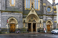 St Michael's Roman Catholic Church, Enniskillen, Co Fermanagh, N Ireland, UK, September, 2019, 201909121470<br /><br />Copyright Image from Victor Patterson, Belfast, UK<br /><br />t: +44 28 9066 1296 (from Rep of Ireland 048 9066 1296)<br />m: +44 7802 353836<br /><br />victorpattersonbelfast@gmail.com<br />www.victorpatterson.com<br /><br />Please see my Terms and Conditions of Use at https://www.victorpatterson.com/page2<br />It is IMPORTANT that you familiarise yourself with them.<br /><br />Images used online incur an additional cost and must be visibly watermarked i.e. © Victor Patterson within the body of the image and copyright metadata must not be deleted. Images used on the Internet have a size restriction of 4kbs and are chargeable at rates available at victorpatterson.com.<br /><br />This image is only available for the use of the download recipient i.e. television station, newspaper, magazine, book publisher, etc, and must not be passed on to any third party. It is also downloaded on condition that each and every subsequent usage is notified within 7 days to victorpattersonbelfast@gmail.com<br /><br />The right of Victor Patterson to be identified as the author is asserted in accordance with The Copyright Designs And Patents Act (1988). All moral rights are asserted.
