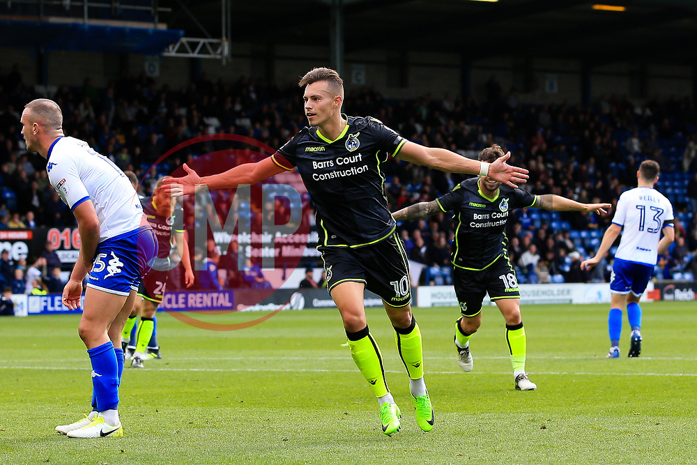 Billy Bodin of Bristol Rovers celebrates after scoring his sides third goal  - Mandatory by-line: Matt McNulty/JMP - 19/08/2017 - FOOTBALL - Gigg Lane - Bury, England - Bury v Bristol Rovers - Sky Bet League One