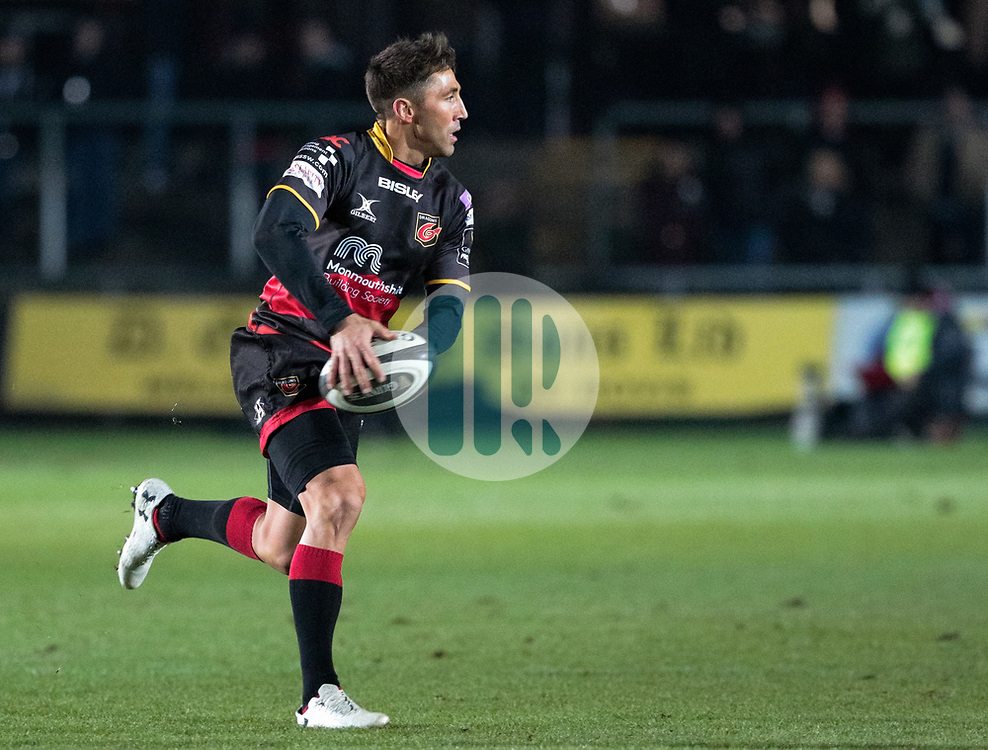 Dragons' Gavin Henson<br /> <br /> Photographer Simon King/Replay Images<br /> <br /> Guinness Pro14 Round 10 - Dragons v Ulster - Friday 1st December 2017 - Rodney Parade - Newport<br /> <br /> World Copyright © 2017 Replay Images. All rights reserved. info@replayimages.co.uk - www.replayimages.co.uk