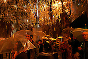 """Urban nature"" section of the Sigapore pavilion where the visitors experience Singapore's rain. AICHI WORLD EXPO 2005, Nagoya 7-April-2005, Japan"