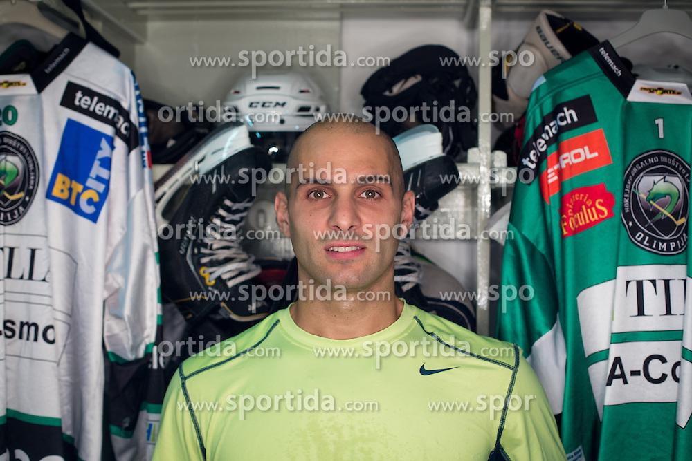 Andy Chiodo at official photo shooting of team HDD Olimpija Ljubljana for Season 2014 / 15 on September 10, 2014 in Hala Tivoli, Ljubljana, Slovenia. Photo by Matic Klansek Velej / Sportida