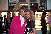 SAMIR CERIC; ZOE KNIGHT, Wolf & Badger - pop-up store launch party. Wonder Room, Selfridges, 13 August 2010. -DO NOT ARCHIVE-© Copyright Photograph by Dafydd Jones. 248 Clapham Rd. London SW9 0PZ. Tel 0207 820 0771. www.dafjones.com.