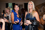 LIZZIE CUNDY; DEBBIE GEORGIOU ( ? ), Beau Bronz  ( Tanning system ) launch, Avista Bar, Millennium Hotel, Grosvenor Sq. London. 17 August 2011.<br /> <br />  , -DO NOT ARCHIVE-© Copyright Photograph by Dafydd Jones. 248 Clapham Rd. London SW9 0PZ. Tel 0207 820 0771. www.dafjones.com.
