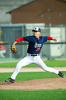 KELOWNA, BC - JULY 16:  Nick Nygard #39 of the Kelowna Falcons throws a pitch against the Wenatchee Applesox at Elks Stadium on July 16, 2019 in Kelowna, Canada. (Photo by Marissa Baecker/Shoot the Breeze)