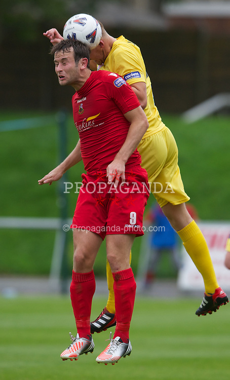 LLANELLI, WALES - Saturday, September 15, 2012: Llanelli's Martin Rose in action against Newtown during the Welsh Premier League match at Stebonheath Park. (Pic by David Rawcliffe/Propaganda)