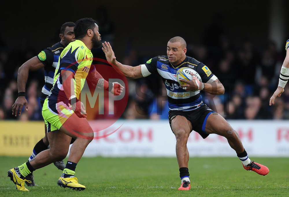 Jonathan Joseph of Bath rugby in action.  - Mandatory by-line: Alex Davidson/JMP - 23/04/2016 - RUGBY - Recreation Ground - Bath, England - Bath Rugby v Sale Sharks - Aviva Premiership
