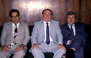 20.02.1989, Rio de Janeiro, Brazil..Vasco da Gama vice-president Eurico Miranda (left), Conmebol president Nicol?s L?oz and CBF president Ricardo Terra Teixeira..©JUHA TAMMINEN