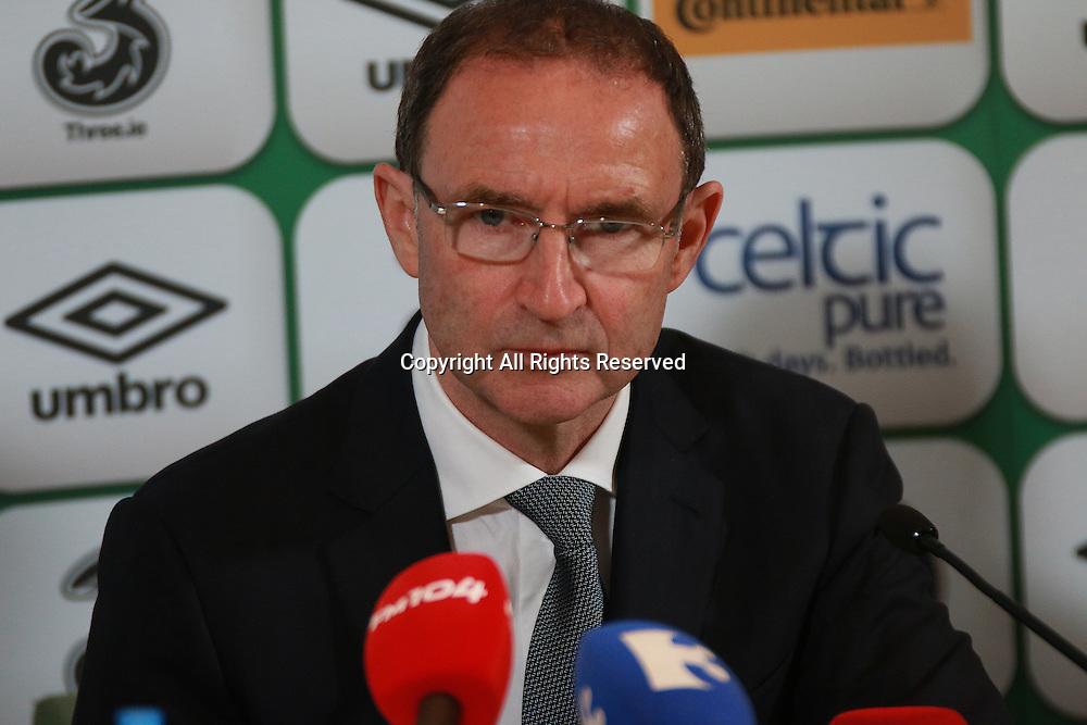 07.06.2015.  Dublin, Ireland. Martin O'Neill Irish manager, International Friendly. Republic of Ireland versus England.