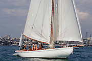 Ariki (A3) starts the around Rangitoto race of the Lindauer Classic Yacht Regatta. 18/2/2006