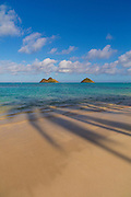Mokulua Islands, Lanikai, Beach, Kailua, Oahu, Hawaii