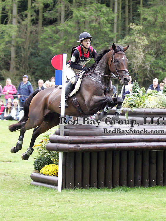 Diana Burnett (CAN) and Manny at the 2011 Land Rover Burghley Horse Trials in Stamford, UK.